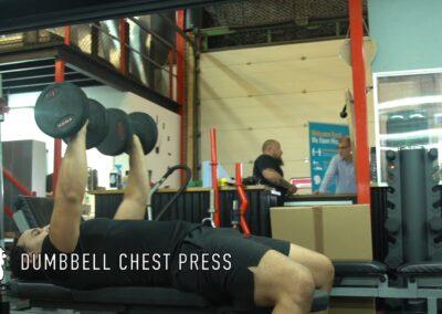 DUMBBELL CHEST PRESS (FLAT)