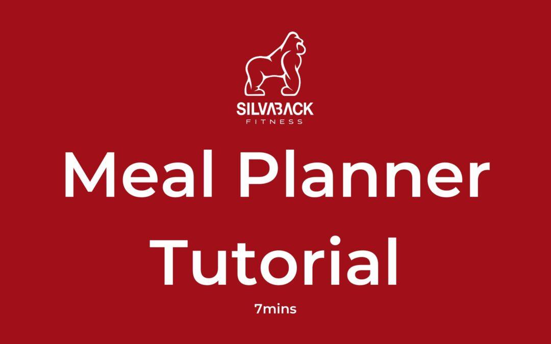 Meal Planner Tutorial