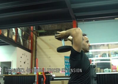 OVERHEAD DUMBELL TRICEP EXTENTION