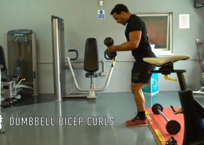 DUMBBELL BICEP CURLS