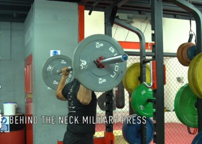 BEHIND THE NECK MILITARY PRESS
