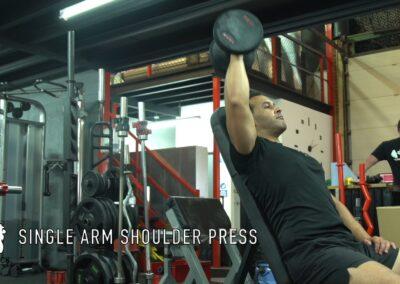 SINGLE ARM DUMBELL SHOULDER PRESS