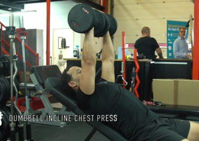 DUMBBELL INCLINE CHEST PRESS-