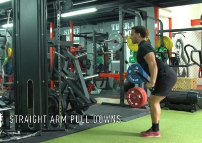 STRAIGHT ARM LAT PULL DOWNS