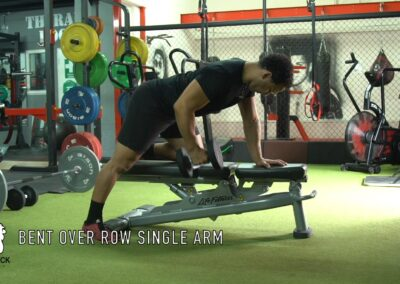 DUMBELL BENT OVER ROWS (SINGLE ARM)
