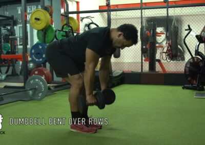 DUMBEELL BENT OVER ROWS